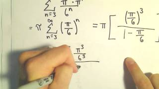Sum of an Infinite Geometric Series, Ex 3