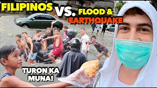 My SCARY Driving in the Deep FLOOD! + Earthquake Footage! 🇵🇭#StayStrongPhilippines