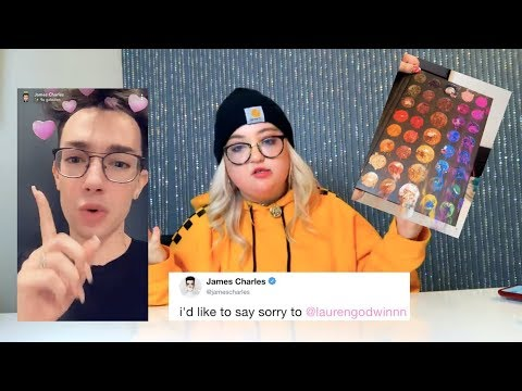 james charles APOLOGIZES to the girl who destroyed his palette
