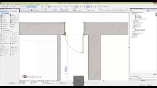 Как вставлять окна и двери в Архикаде