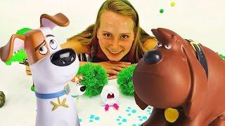 Тайная жизнь домашних животных. Видео про игрушки для детей. Собачки заметают следы(Детский канал