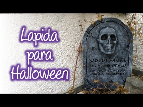 Lapida para halloween de unicel styrofoam halloween headstone youtube - Como decorar una lapida ...