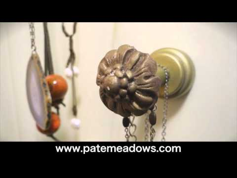 DIY Jewelry Display Using Knobs and Posts