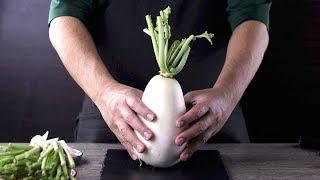 【1mintips】大神奇!一根蘿蔔六道料理!完全不浪費的神奇料理。蘿蔔最天然甜味完全釋放秘訣!