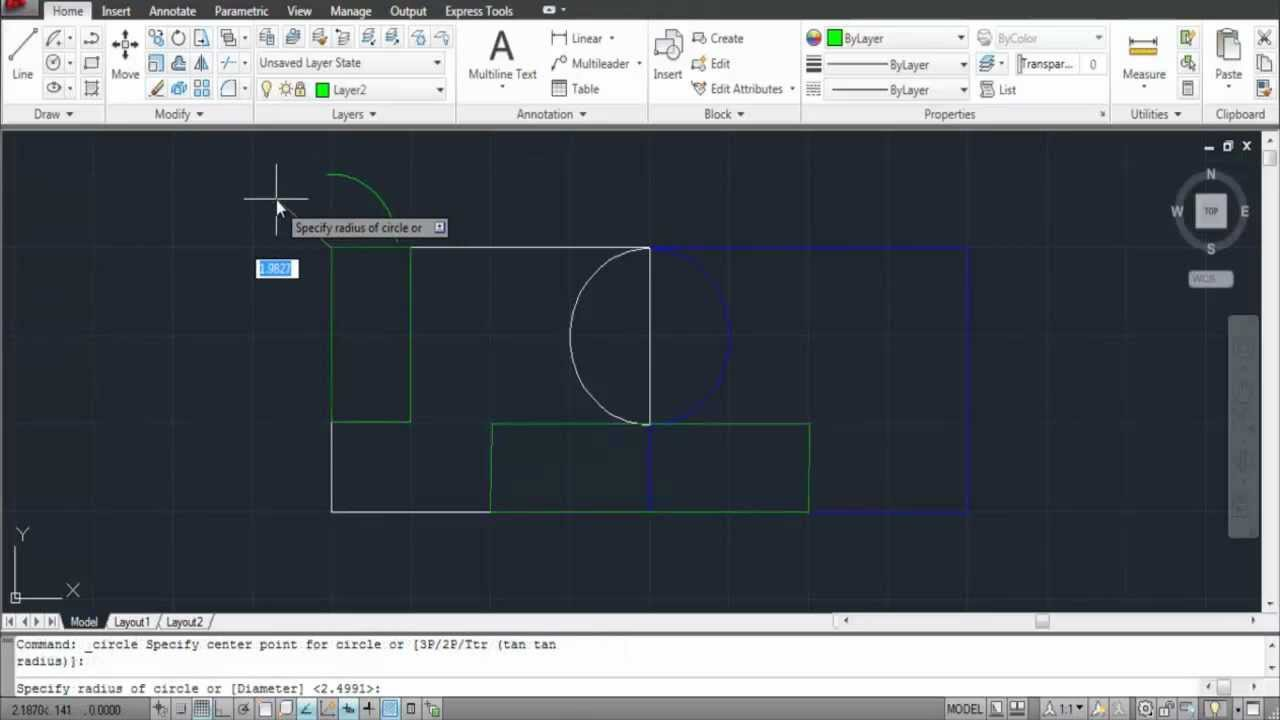 how to draw layers in autocad