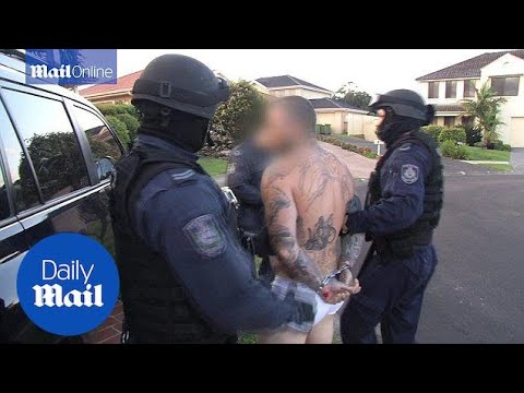 NSW Police Arrest 17 In  Alleged Rebels Bikie Gang Raids