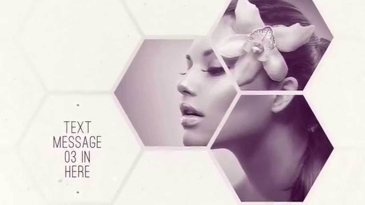 clean hexagon presentation after effects template - youtube, Presentation templates