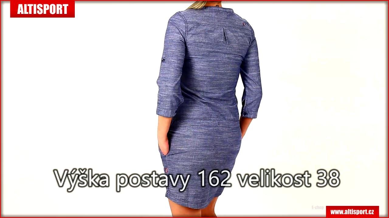 6793ca1403ec dámské šaty loap nicia clw1889 modrá - YouTube
