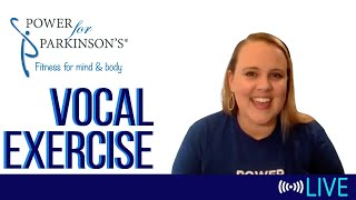 Power for Parkinson's Wednesday Vocal Exercise - Live Streaming Day 80