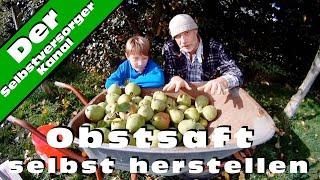 Obstsaft   Birnensaft selbst herstellen