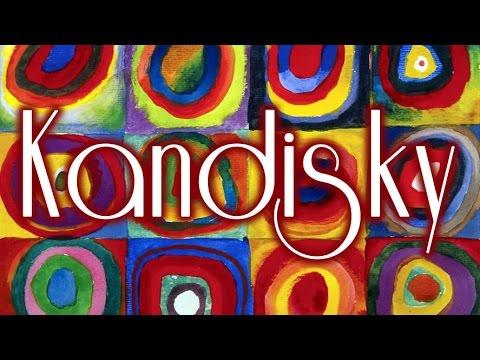 Cuadros Famosos Faciles.25 Cuadros De Kandinsky Con Musica De Wagner Hd Youtube