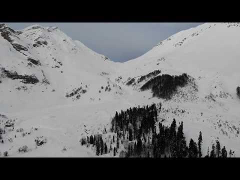 Последствия схода  лавин с г.Оштен 19.01.2019