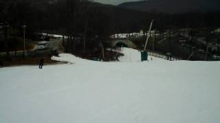Eagle swoop at Winter Green Ski Resort Virginia