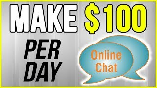 Do you want to see how easy it is earn $100 per day chatting online? let me show anybody can get started today. make $200 - $500 cl...