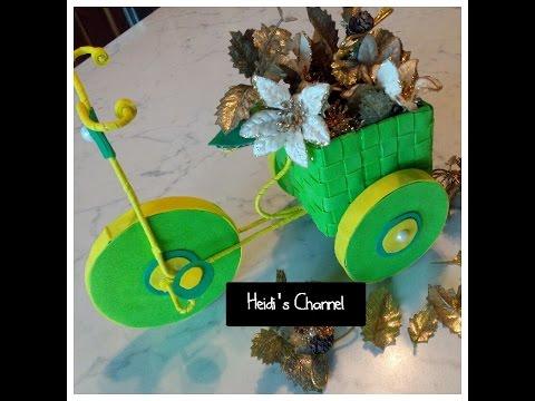 Tutorial triciclo con gomma eva bicicleta portafiori fai for Fai da te creativo