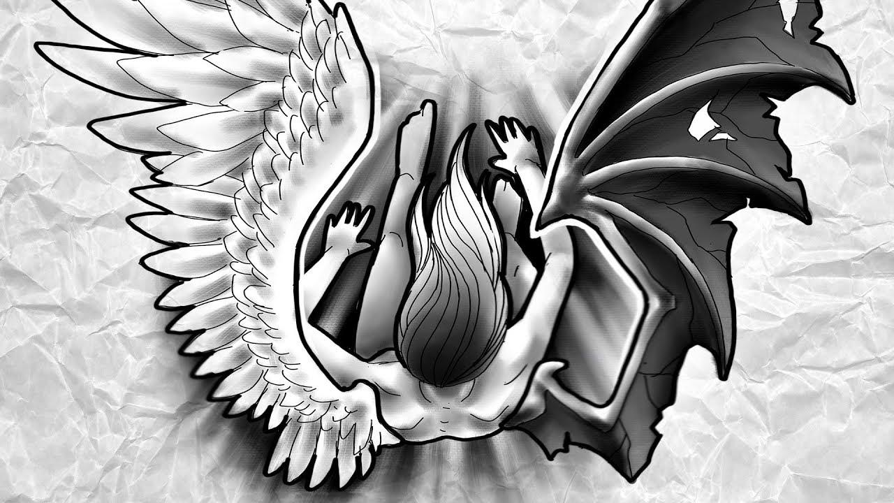 Anjo Caido Fallen Angel Desenha E Fala Speed Drawing 116