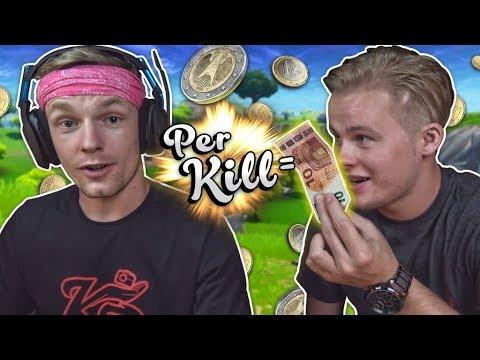 IK GEEF ENZO €10 PER KILL!! - Fortnite Battle Royale ft. Enzo Knol (Nederlands)