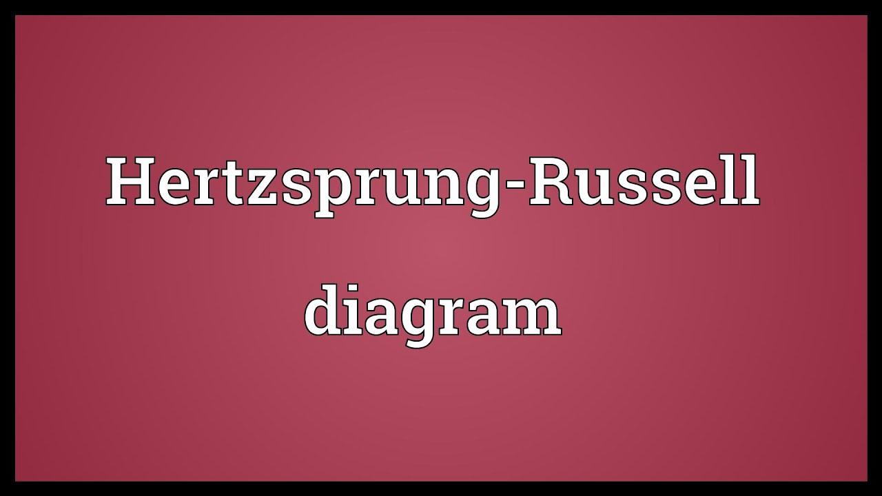 Hertzsprung Russell Diagram Meaning
