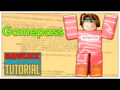 Advanced Roblox Scripting Tutorial #15 - Gamepasses | MarketplaceService (Beginner to Pro 2019) thumbnail