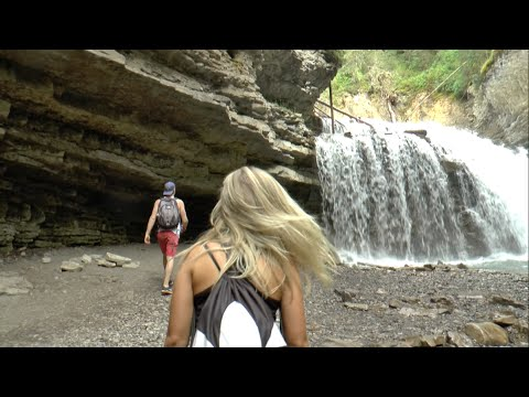 Adventure Time: Johnston Canyon Hike | BBsDoingNothing