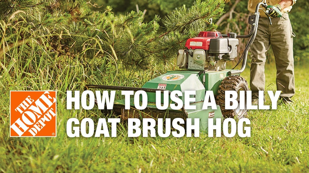 How To Use A Billy Goat Hydraulic Brush Hog Rental Youtube