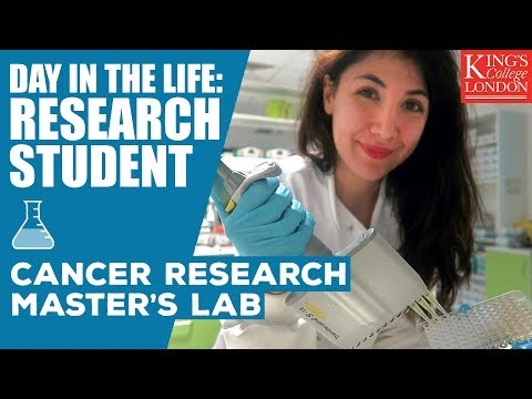 Day in the Life of a Cancer Research Student | King's College London | Atousa Vlogs