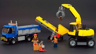 Lego City 60075 Stop Motion Build Excavator And Truck