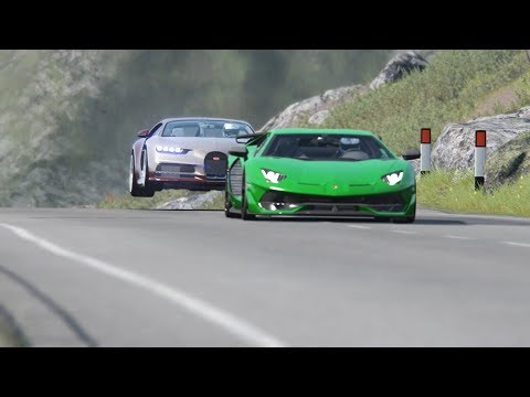 Bugatti Chiron vs Lamborghini SVJ vs McLaren Senna at Highlands
