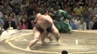 平成25年5月場所千秋楽 稀勢の里vs琴奨菊 sumo kisenosato kotosyogiku.