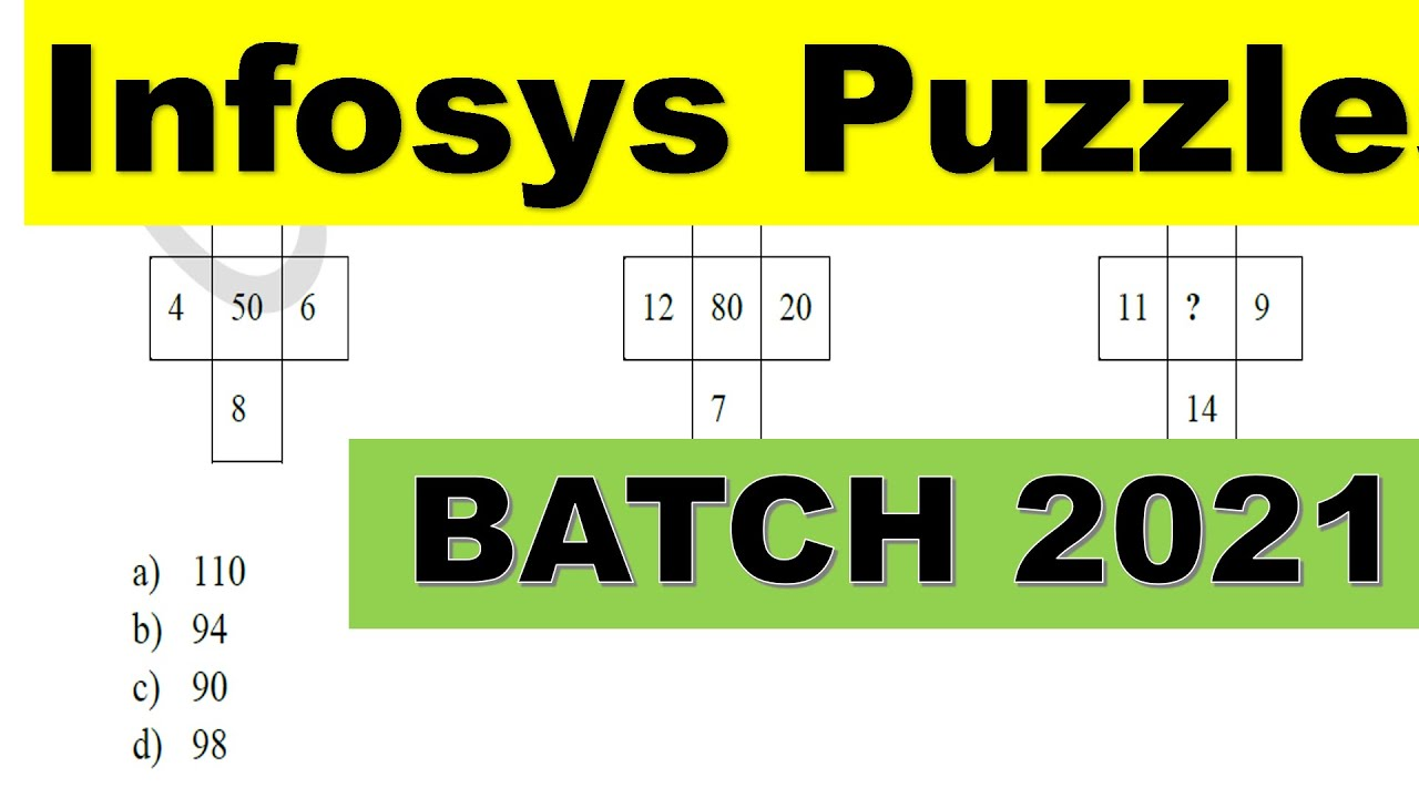 Infosys Puzzles 2021 Batch | Sample Puzzles for Infosys | Important Concept for Puzzles