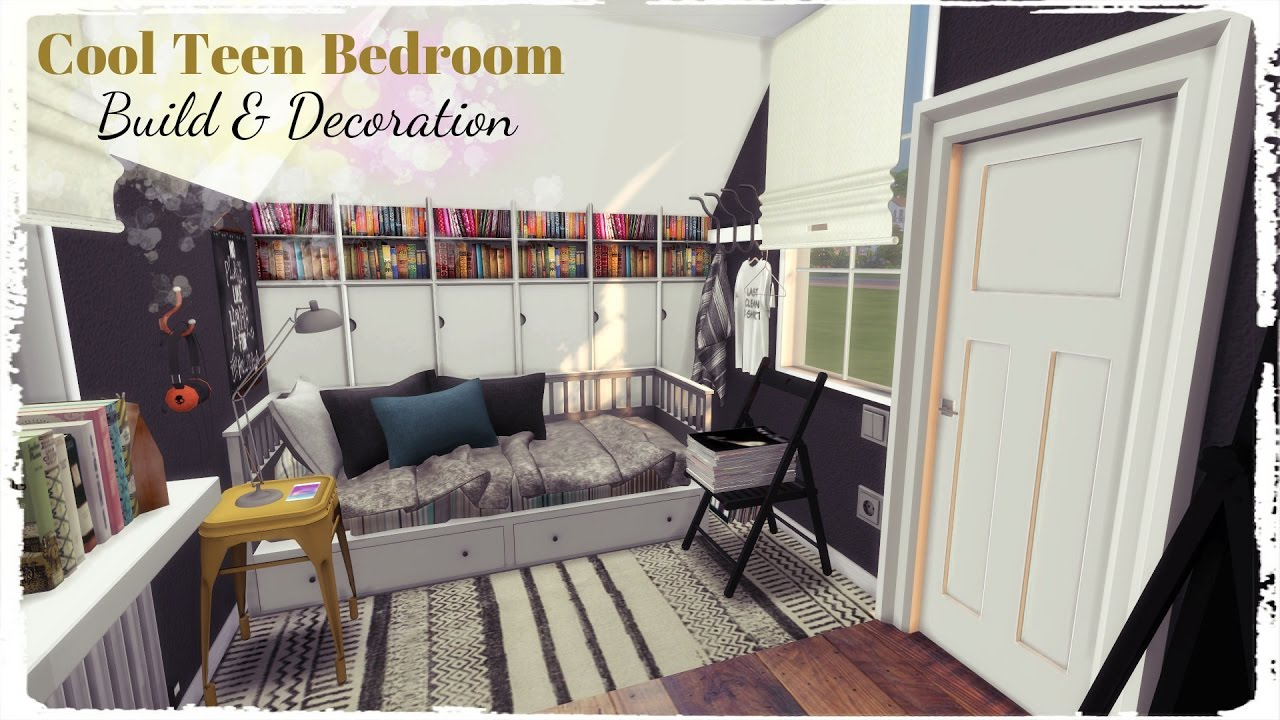 Sims 4 Cool Teen Bedroom Build Decoration