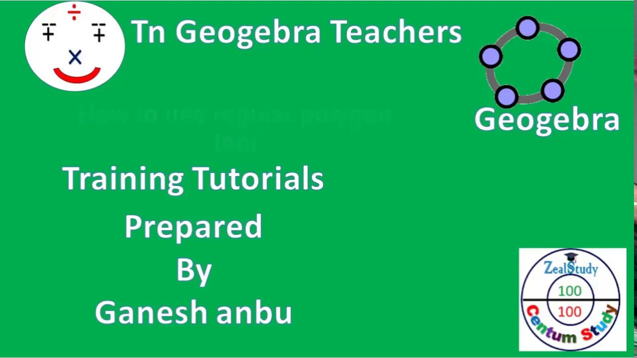 geogebra tutorial part 12 how to use regular polygon tool coluring the object background