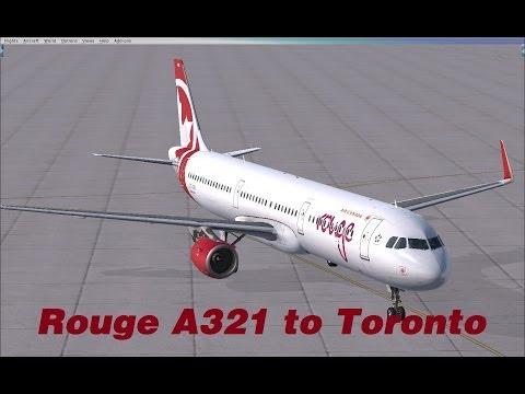 FSX Livestream - Rouge Aerosoft Airbus A321 to Toronto