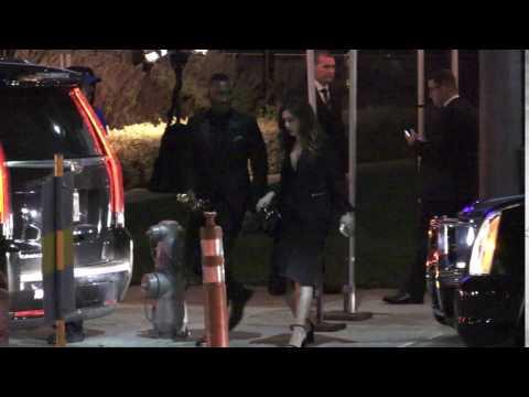 Mahershala Ali seen leaving the Vanity Fair event in Los Angeles, CA