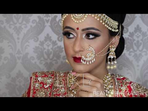 Traditional Indian | Bollywood |South Asian Bridal Makeup | Start to Finish | BEAUTY BY KIRAN GILL