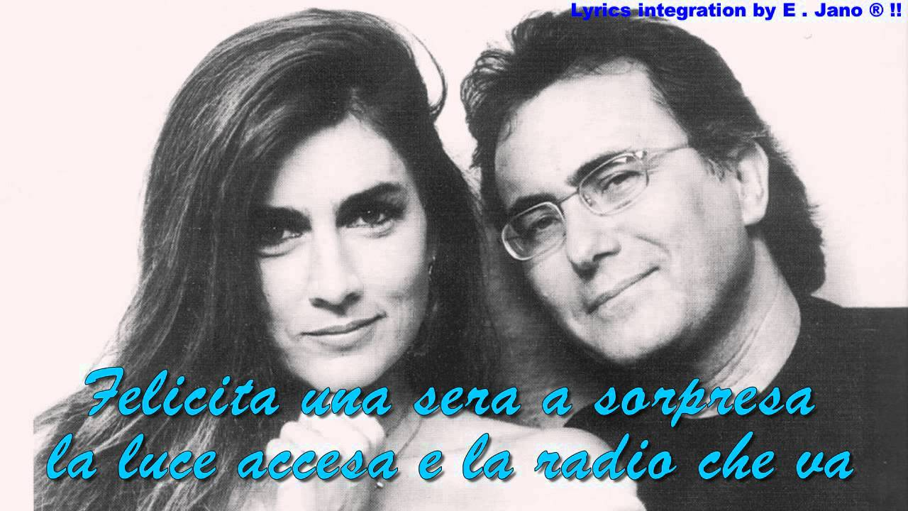 Albano carrisi romina power felicita with lyric 39 s for Al bano felicita