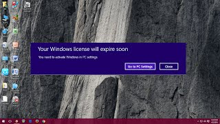 How to fix Your Windows License Will Expire Soon in Windows 10 PC (Easy No Software)