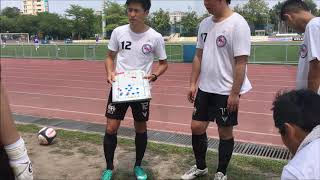 Neihu Aeolus Football Team Pre match meeting in T2 Liga Season 17-18 李指導內湖風神隊足球隊賽前戰術安排