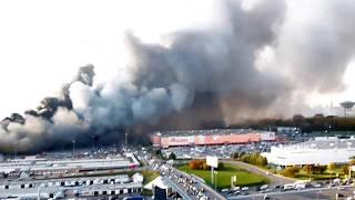 пожар в Москве. Синдика 8 октября 2017