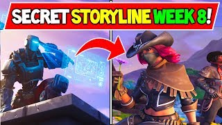 "*NEW* FORTNITE SECRET STORYLINE SOLVED?! ""MISSION A.I.M"" WEEK 8 / 9 Fortnite Season 6 Storyline!"