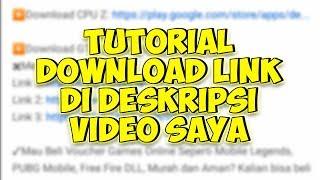 TUTORIAL DOWNLOAD LINK DI DESKRIPSI VIDEO SAYA