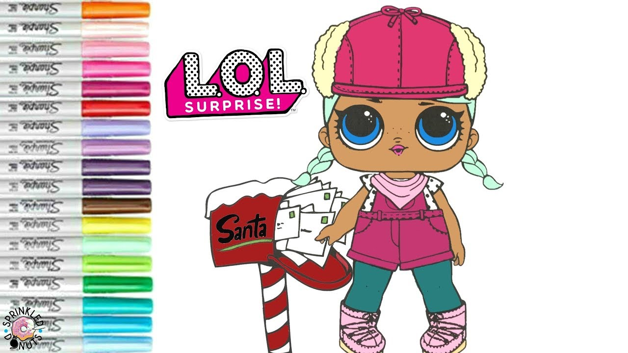 Lol Surprise Dolls Christmas Coloring Book Page Brrr Bb Santa Letters Youtube