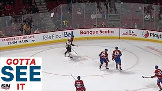 GOTTA SEE IT: Canadiens Fan Throws In The Towel After Thrashing By Bruins