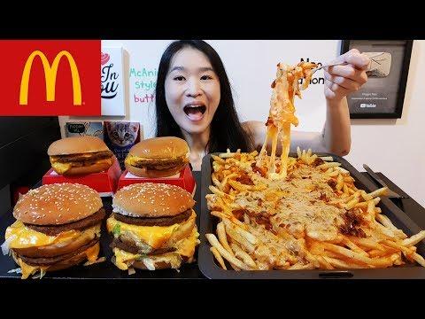 McDonald's Animal Style Fries!! Animal Style Big Mac, Cheese Fries, Double Cheeseburger Mukbang Asmr