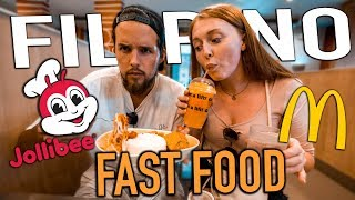 British Couple Try Filipino JOLLIBEE for the First TIme!