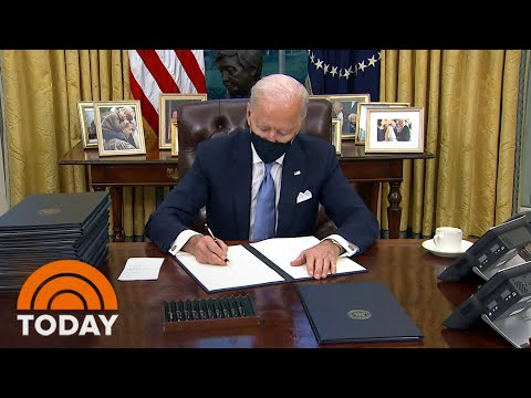 President Biden Signs Flurry Of Executive Orders On His 1st Day In Office | TODAY