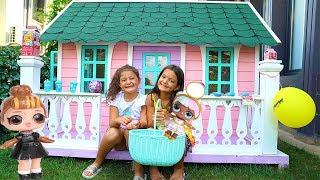 Masal & Öykü Pretend Play Dough Toy Shop - Fun Kids Video