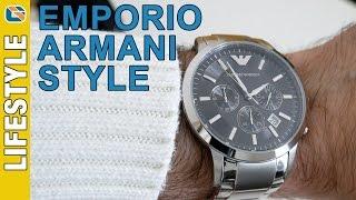 emporio armani renato ar2434 mens chronograph watch review watches up close personal