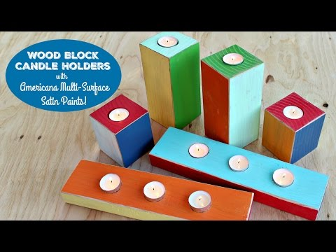 HOW TO: Wood Block Candle Holders