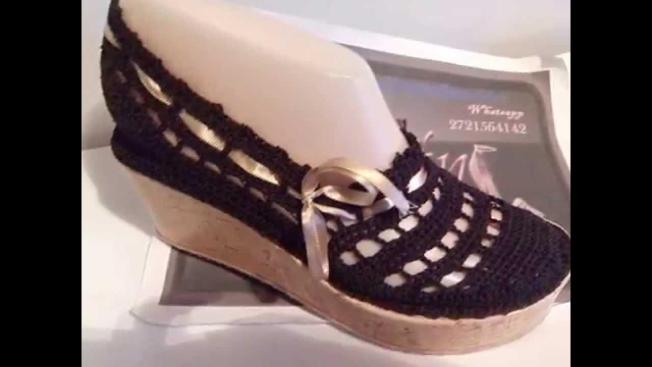 Zapatos Tejidos Nuevos Diseños Youtube